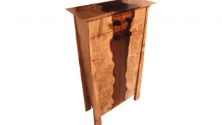 Rapture Resin Tall Cabinet With Drawer
