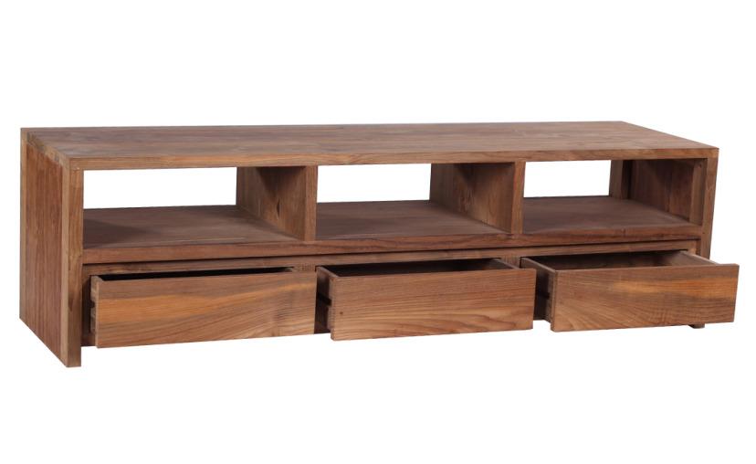 Reclaimed teak furniture tv unit less expensive highly rated for Less expensive furniture