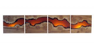 Wall Art Rapture Resin Triptych