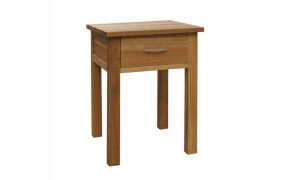 Brooklyn Oak 1 Drawer Bedside Table