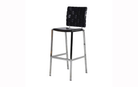 Black Woodward Weave Bar Stool