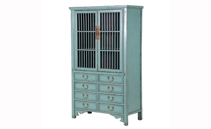Blue Display Cabinet with free delivery.