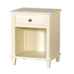 Cream Fayence Open Bedside Table