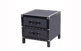 Charcoal Felt Bedside Table