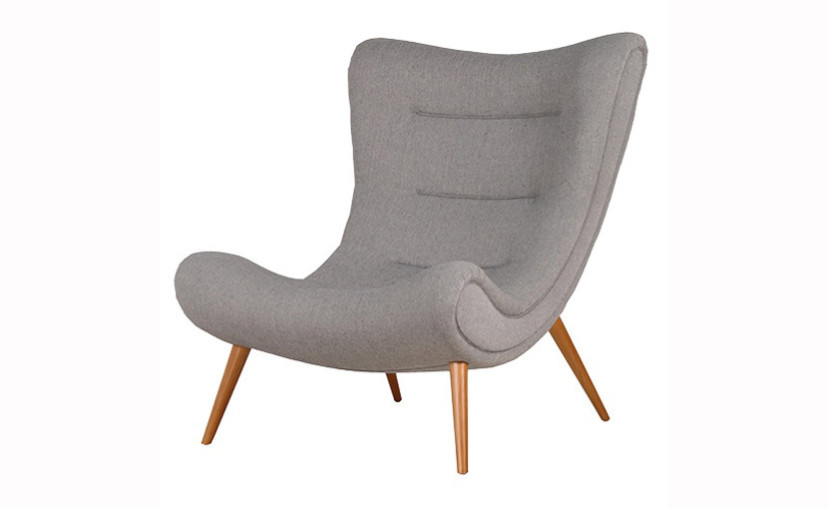 Charming Denver Slouch Grey Armchair