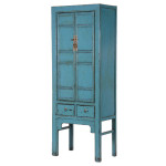 Distressed Blue Elm Cupboard