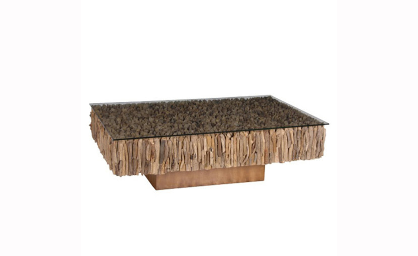 Driftwood Coffee Table On Base With Free Delivery