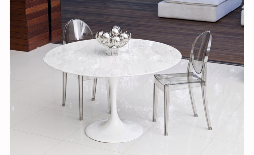 Exceptional Eero Saarinen Marble Tulip Style Dining Table 900 Mm