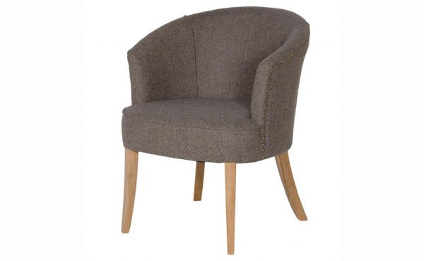 Grey Herringbone Tub Chair