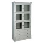 Grey Fayence 3 Drawer Bookcase