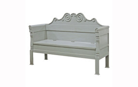 Grey Fayence Bench