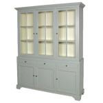 Grey Fayence Large Cabinet & Shelf Unit