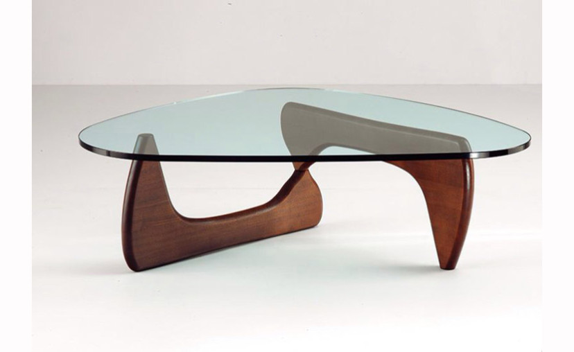 Isamu Noguchi Coffee Table Walnut Legs with free delivery