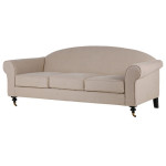 Linen Curve Back Sofa