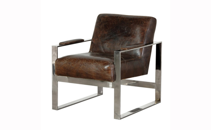Mayfair Brown Leather Armchair With Free Delivery
