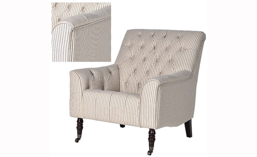 Superior Natural Weave Striped Armchair