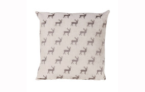 Pair Of Grey Stag Cushion Covers