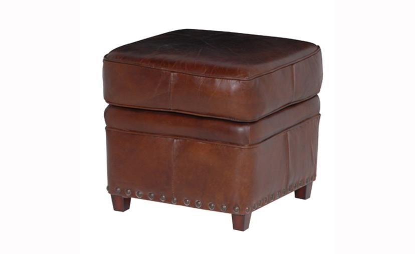 Vintage Leather Ottoman 23