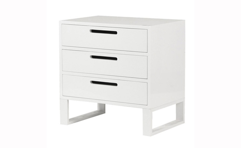 Description The Ultimate Living Company Are Proud To Offer White Gloss 3 Drawer Bedside Table