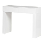 White Gloss 2 Drawer Console Table