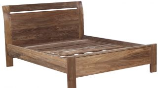 Pulau Reclaimed Wood Bed and Bedside Table Set
