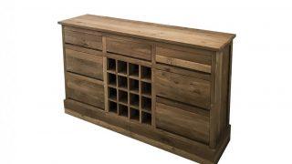 Tanak Reclaimed Wooden Wine Rack